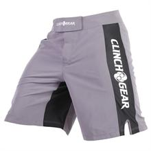 Clinch Gear Pro Series Fight Shorts - Pewter/Black/White